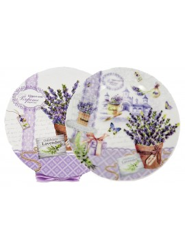 Boxed Side Plates Set of 6 in Lavender