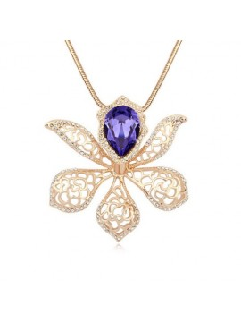 Orchid Pendant Necklace