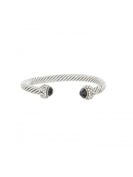Jewel & Diamante Capped Rope Bangle