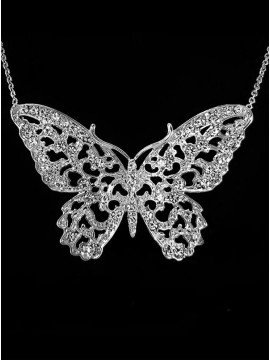 Sparkling Butterfly Necklace