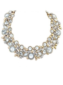 Statement Necklace in Clear