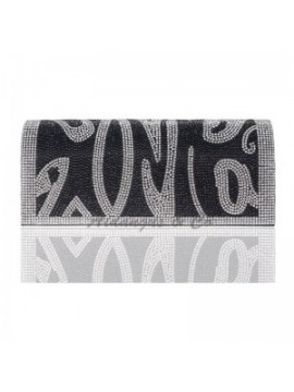 Flap Clutch Evening Bag in Black