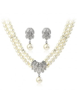 Faux Pearl 3 Piece Jewellery Set