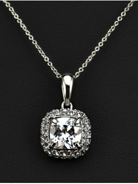 Classic Princess Cut Necklace