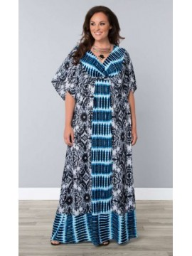 Kiyonna Plus Size Bohemian Breeze Maxi