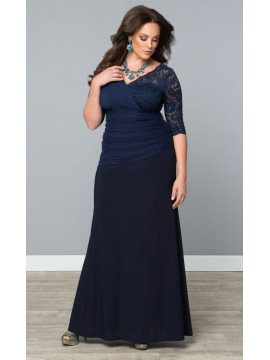 Kiyonna Soiree Evening Gown in Navy
