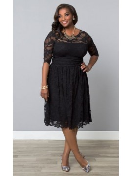 Kiyonna Scalloped Luna Lace Dress