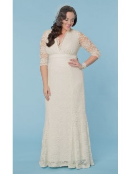 Kiyonna Amour Vintage Lace Wedding Dress