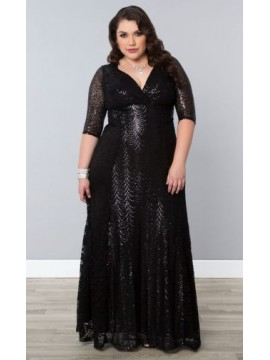 Kiyonna Gatsby Sequin Evening Gown