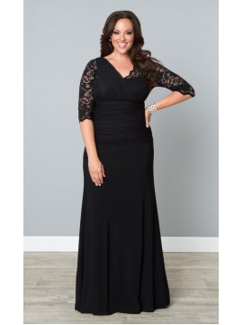 Kiyonna Soiree Evening Gown in Black