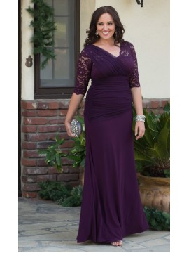 Kiyonna Soiree Evening Gown in Purple