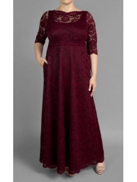 Special Edition Kiyonna Leona Lace Gown in Glittering Garnet - Pre Order