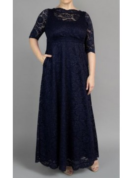 Special Edition Kiyonna Leona Lace Gown in Sparking Sapphire - Pre Order