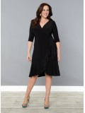 Kiyonna Whimsy Wrap Dress in Black