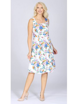 Ladies Senorita Pleat Dress in Floral