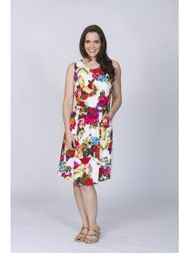 Ladies Cool Summer Dress in Butterfly Floral
