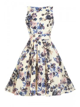 Vintage Tea Dress - Lavender Rose