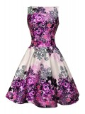 Vintage Tea Dress - Summer Rose - Purple