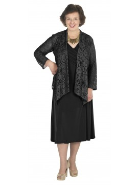 Lorissa Special Plus Size Dakota Dress in Black