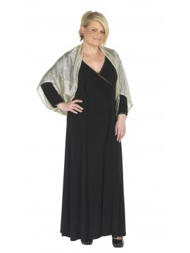 Lorissa Special Plus Size Dakota Long Dress with Gold Binding