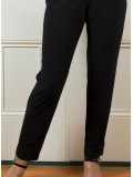 Plus Size Jersey Straight Leg Pant with Elastic Waist