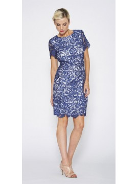 Special Contony Black Label Lace Dress in Navy