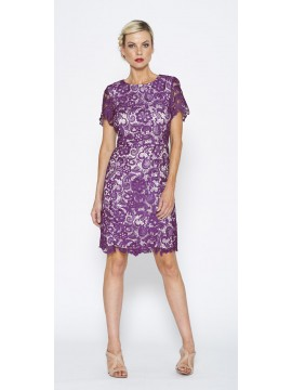 Special Contony Black Label Lace Dress in Purple