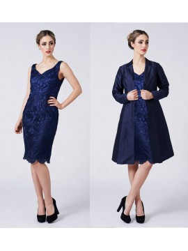 La Scala Navy Lace Dress and Jacket