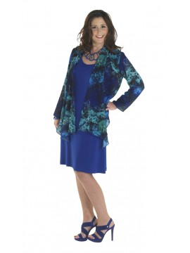Lorissa Plus Size Holly Jacket in Midnight Garden