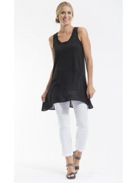 Ladies Knit Tunic in Black