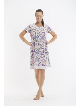 Victoria's Dream Ladies Nightie with Short Sleeve