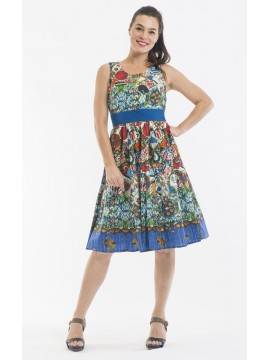 Ladies Summer Dress in Gaudi Print