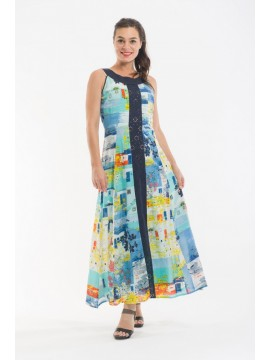 Ladies Summer Dress in Kandinsky Print