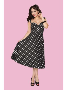 Roman Holiday Vintage Style Dress in Polka Dot