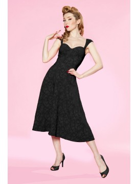 Roman Holiday Vintage Style Dress in Black