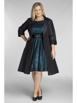 Special Jackie Vintage Style Lace Dress with Jacket in Teal