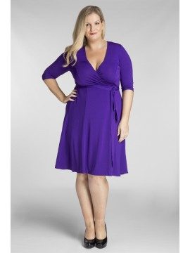 ALL STAR SPECIAL Classic Plus Size Wrap Dress in Violet