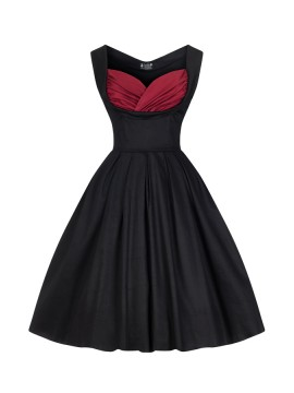 Vintage Madison Dress in Black and Red