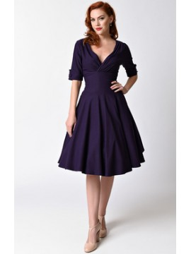 Vintage Delores Dress in Purple