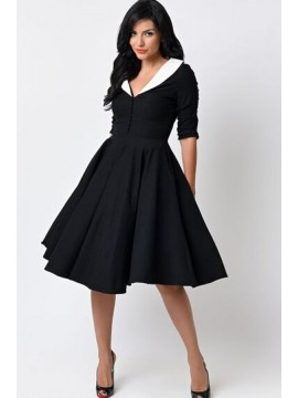 Vintage Eva Marie Dress in Black