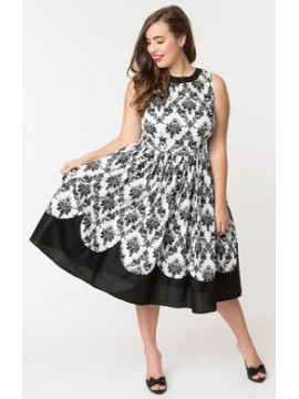Vintage Detroit Dress in Monochrome