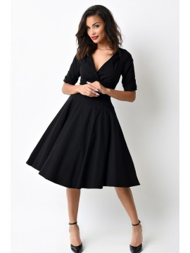 Vintage Delores Dress in Black