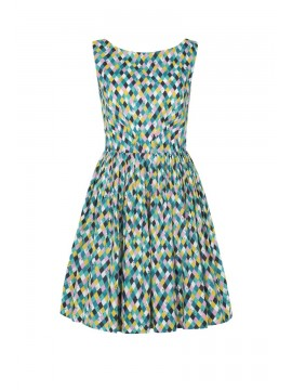 Vintage Style Abigail Dress in Summer Time Print