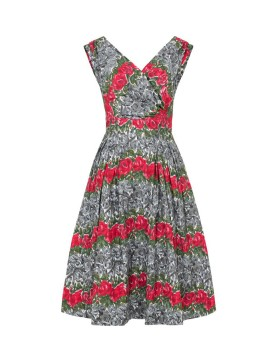 Vintage Style Florence Dress in Roses Print