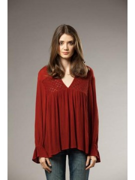 KAJA Hanna Top in Maroon