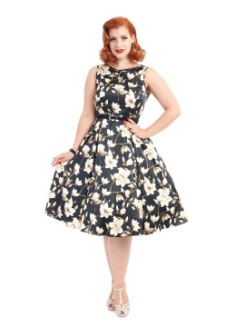 Vintage Hepburn Dress in Magnolia