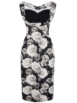 Vintage Madison Pencil Dress in Monochrome