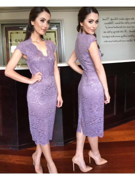 Lace Dress in Lilac