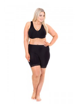 Plus Size Anti Chafing Shorts Lace Trim