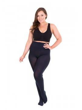 Plus Size Opaque 100 Denier Full Tights in Midnight